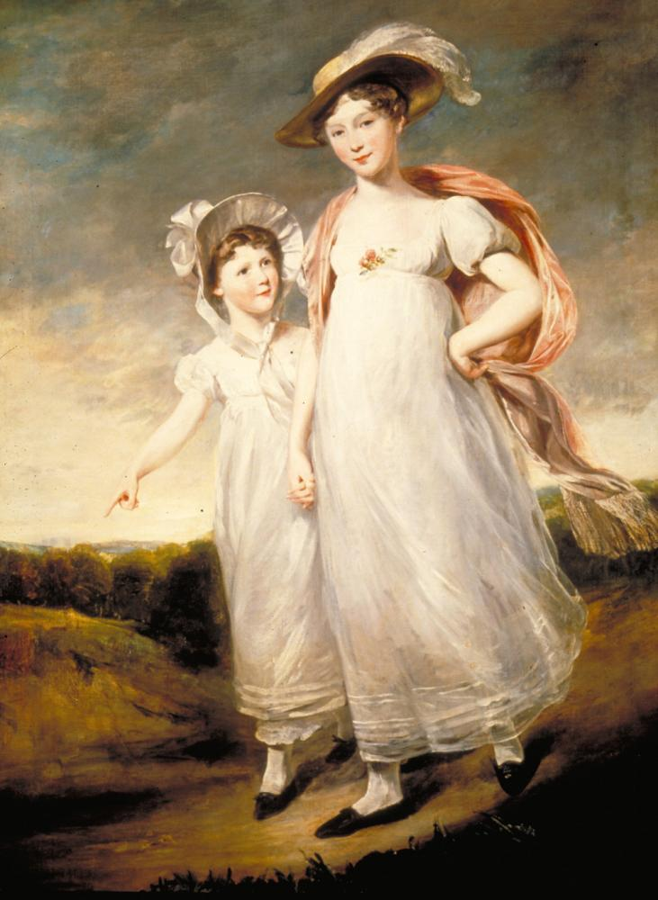 Frances and Emily Baring by John Jackson. Image courtesy of The Baring Archive.