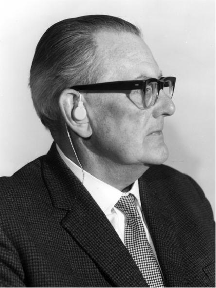 Medresco - the first NHS supplied hearing aid developed by telecommunications research engineers. Image courtesy of BT Heritage.