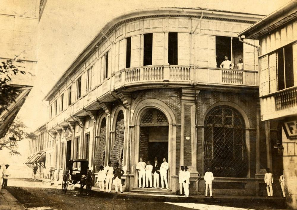 HSBC staff outside the Philippines office in 1885. Image courtesy of HSBC Archives.