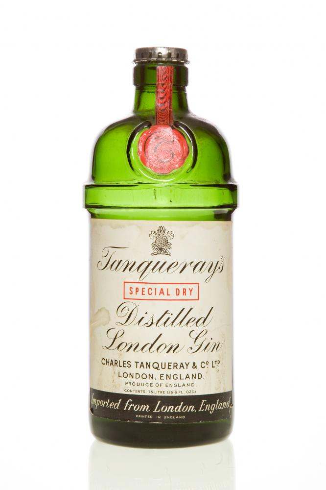 Tanqueray bottle.
