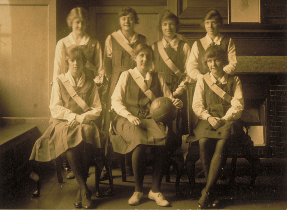 Barings' ladies netball team, 1920s. Image courtesy of The Baring Archive.