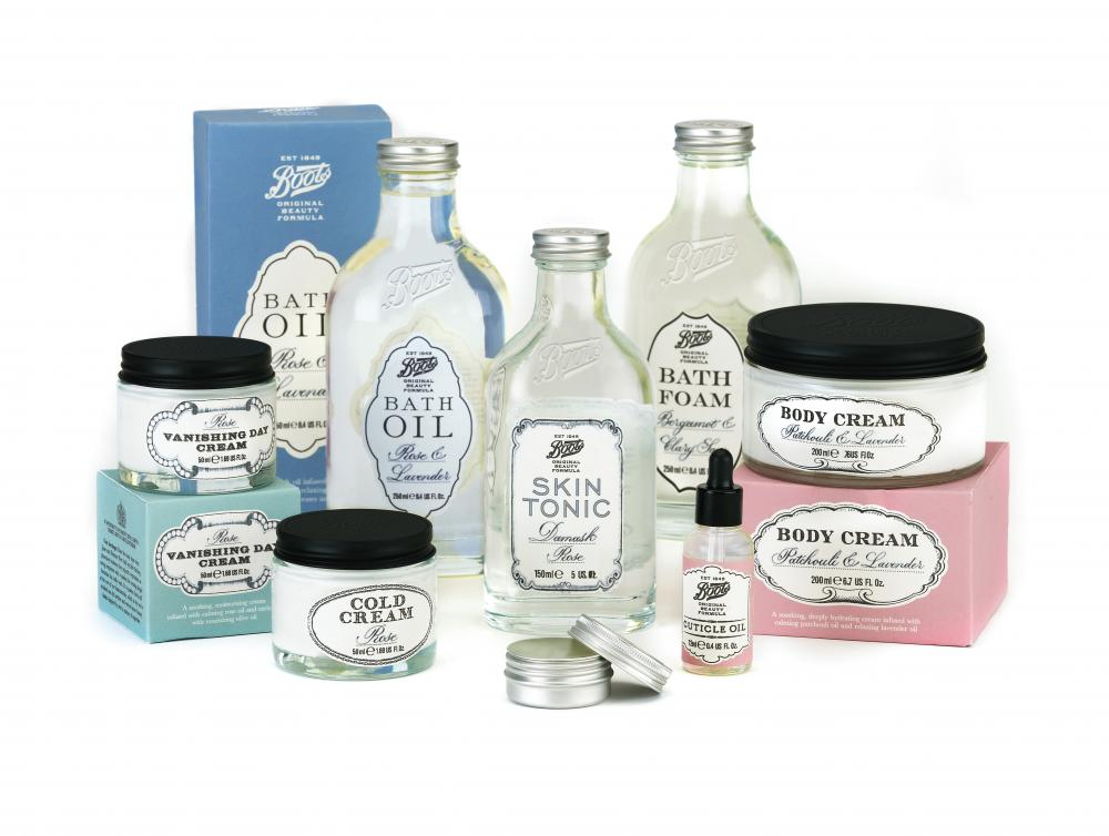 Boots Original Beauty Formula product range. Image courtesy of Boots UK.