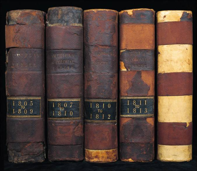 Ledgers. Image courtesy of The Baring Archive.