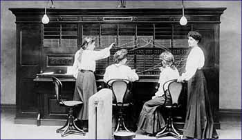 National Telephone Company switchboard operators. Image courtesy of BT Heritage.