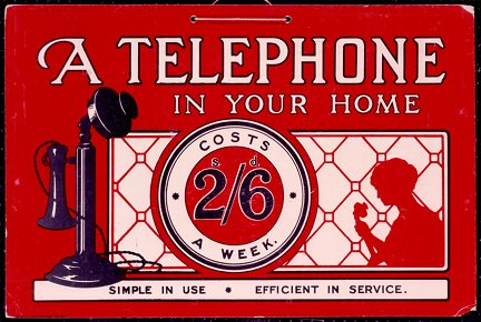 Telephone adverstising poster. Image courtesy of BT Heritage.