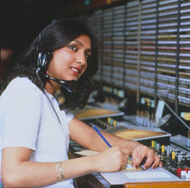 Telephone exchange operator, 1980. Image courtesy of BT Heritage.